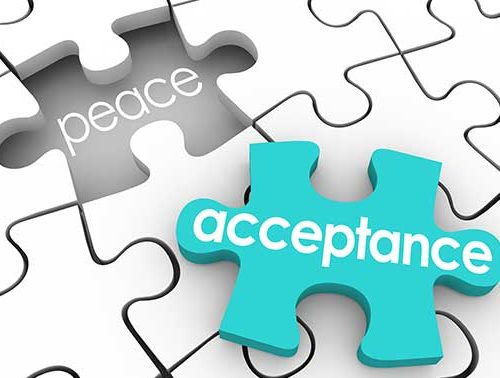 Acceptance leads to peace through meditation