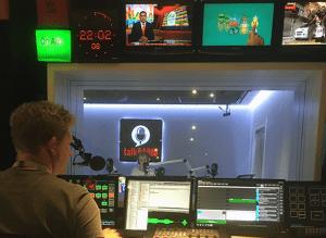 Rajesh Ananda in Talk Radio Station